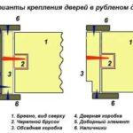 Установка дверей в деревянном брусовом доме